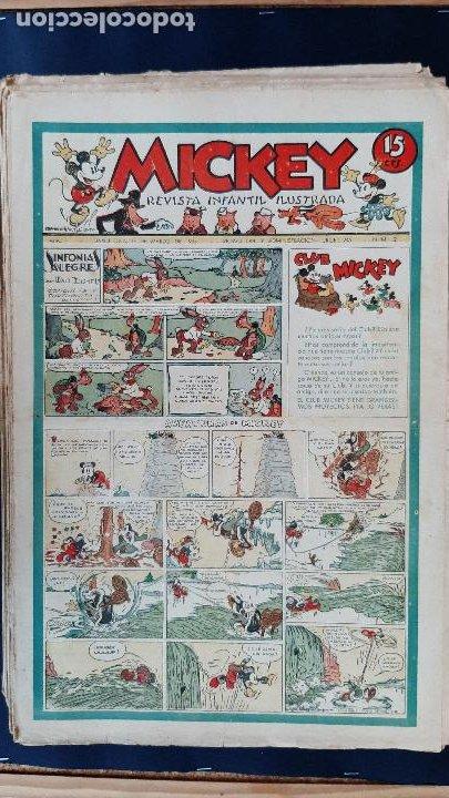 Tebeos: LOTE DE MICKEY COLECCION MOLINO 59 EJEMPLARES ANTIGUOS 1935 1936 ORIGINALES - Foto 3 - 225020363