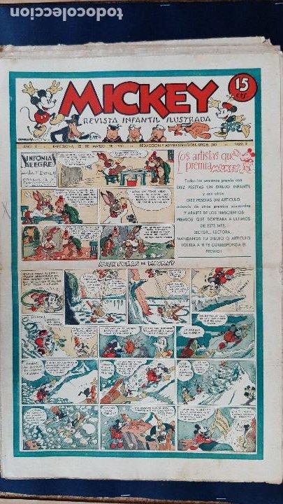 Tebeos: LOTE DE MICKEY COLECCION MOLINO 59 EJEMPLARES ANTIGUOS 1935 1936 ORIGINALES - Foto 4 - 225020363