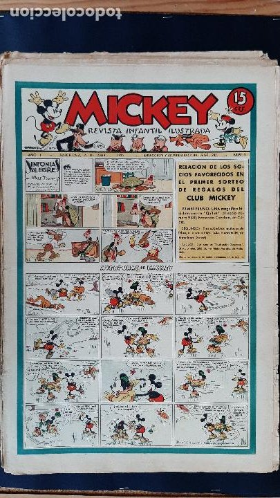 Tebeos: LOTE DE MICKEY COLECCION MOLINO 59 EJEMPLARES ANTIGUOS 1935 1936 ORIGINALES - Foto 6 - 225020363