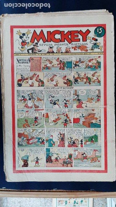 Tebeos: LOTE DE MICKEY COLECCION MOLINO 59 EJEMPLARES ANTIGUOS 1935 1936 ORIGINALES - Foto 7 - 225020363