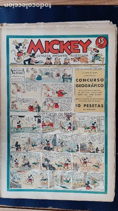 Tebeos: LOTE DE MICKEY COLECCION MOLINO 59 EJEMPLARES ANTIGUOS 1935 1936 ORIGINALES - Foto 9 - 225020363