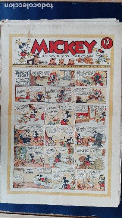 Tebeos: LOTE DE MICKEY COLECCION MOLINO 59 EJEMPLARES ANTIGUOS 1935 1936 ORIGINALES - Foto 11 - 225020363