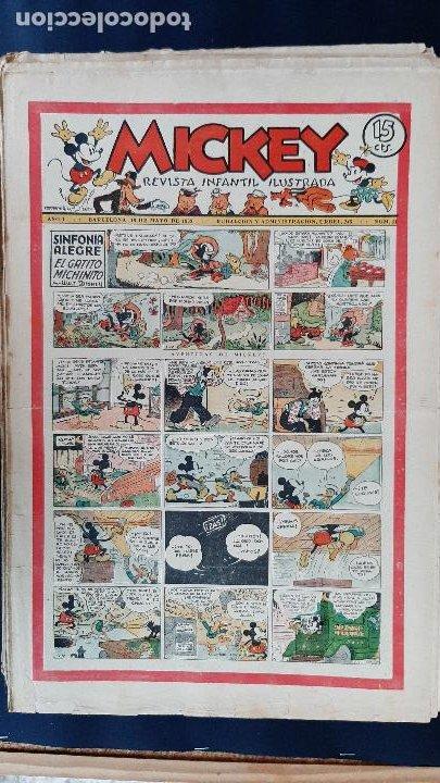 Tebeos: LOTE DE MICKEY COLECCION MOLINO 59 EJEMPLARES ANTIGUOS 1935 1936 ORIGINALES - Foto 12 - 225020363