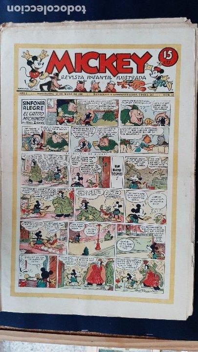 Tebeos: LOTE DE MICKEY COLECCION MOLINO 59 EJEMPLARES ANTIGUOS 1935 1936 ORIGINALES - Foto 13 - 225020363
