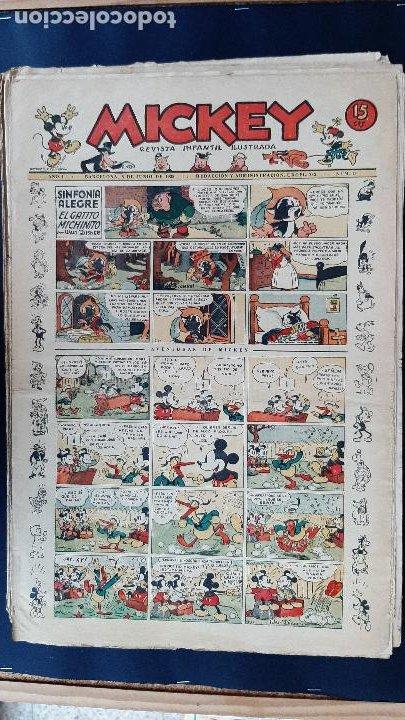 Tebeos: LOTE DE MICKEY COLECCION MOLINO 59 EJEMPLARES ANTIGUOS 1935 1936 ORIGINALES - Foto 16 - 225020363