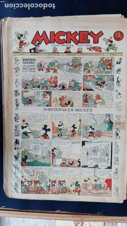 Tebeos: LOTE DE MICKEY COLECCION MOLINO 59 EJEMPLARES ANTIGUOS 1935 1936 ORIGINALES - Foto 18 - 225020363