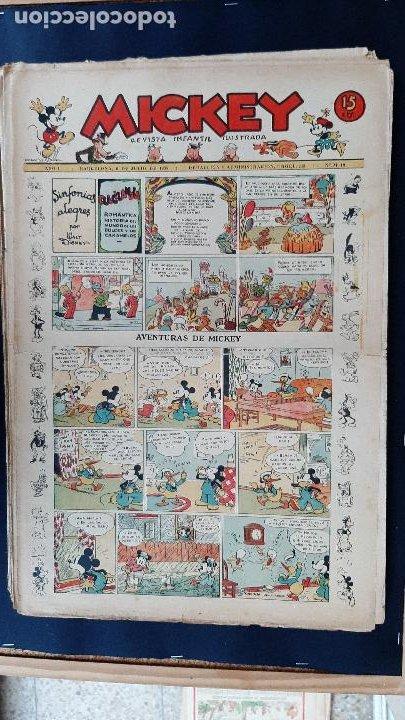 Tebeos: LOTE DE MICKEY COLECCION MOLINO 59 EJEMPLARES ANTIGUOS 1935 1936 ORIGINALES - Foto 19 - 225020363