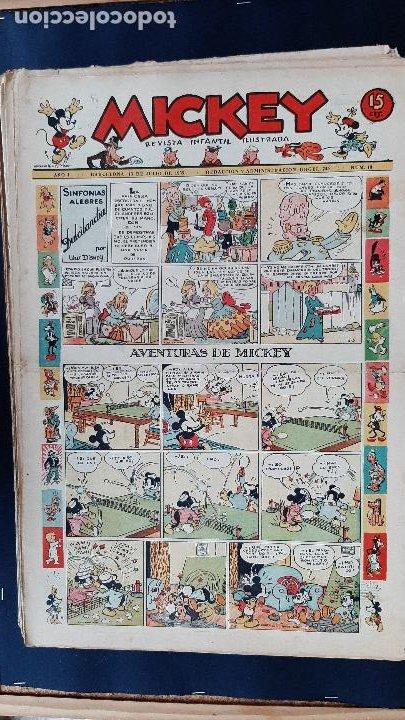 Tebeos: LOTE DE MICKEY COLECCION MOLINO 59 EJEMPLARES ANTIGUOS 1935 1936 ORIGINALES - Foto 20 - 225020363