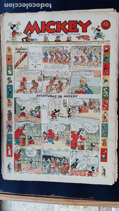 Tebeos: LOTE DE MICKEY COLECCION MOLINO 59 EJEMPLARES ANTIGUOS 1935 1936 ORIGINALES - Foto 22 - 225020363