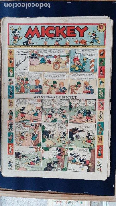 Tebeos: LOTE DE MICKEY COLECCION MOLINO 59 EJEMPLARES ANTIGUOS 1935 1936 ORIGINALES - Foto 23 - 225020363