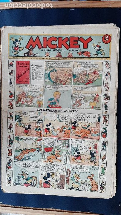 Tebeos: LOTE DE MICKEY COLECCION MOLINO 59 EJEMPLARES ANTIGUOS 1935 1936 ORIGINALES - Foto 24 - 225020363