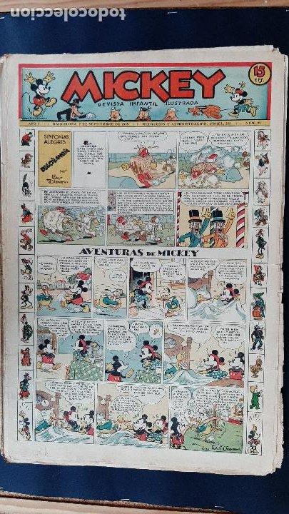 Tebeos: LOTE DE MICKEY COLECCION MOLINO 59 EJEMPLARES ANTIGUOS 1935 1936 ORIGINALES - Foto 25 - 225020363