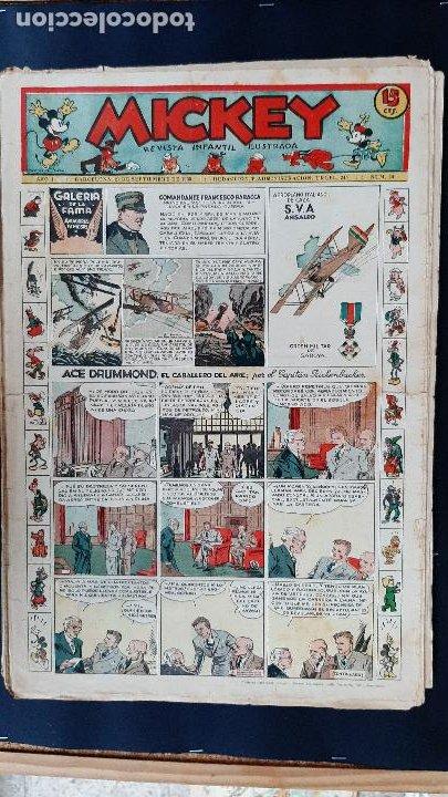 Tebeos: LOTE DE MICKEY COLECCION MOLINO 59 EJEMPLARES ANTIGUOS 1935 1936 ORIGINALES - Foto 27 - 225020363