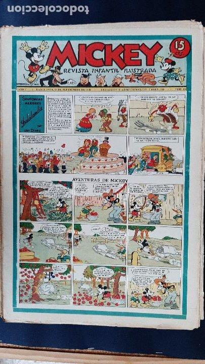 Tebeos: LOTE DE MICKEY COLECCION MOLINO 59 EJEMPLARES ANTIGUOS 1935 1936 ORIGINALES - Foto 29 - 225020363