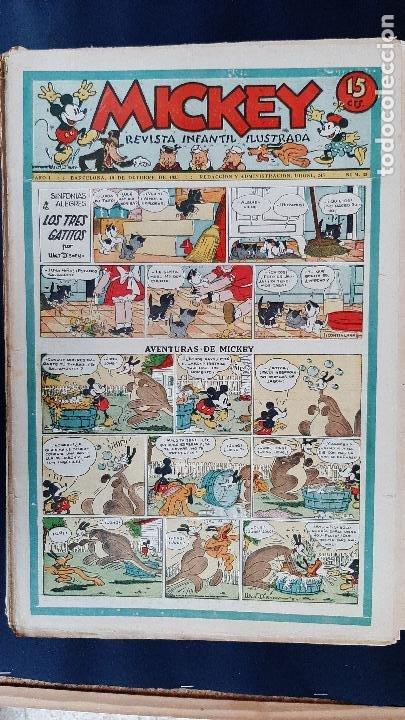Tebeos: LOTE DE MICKEY COLECCION MOLINO 59 EJEMPLARES ANTIGUOS 1935 1936 ORIGINALES - Foto 32 - 225020363