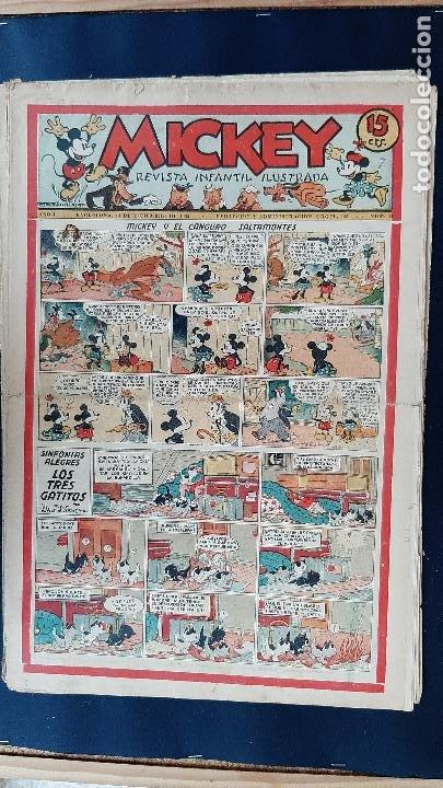 Tebeos: LOTE DE MICKEY COLECCION MOLINO 59 EJEMPLARES ANTIGUOS 1935 1936 ORIGINALES - Foto 39 - 225020363