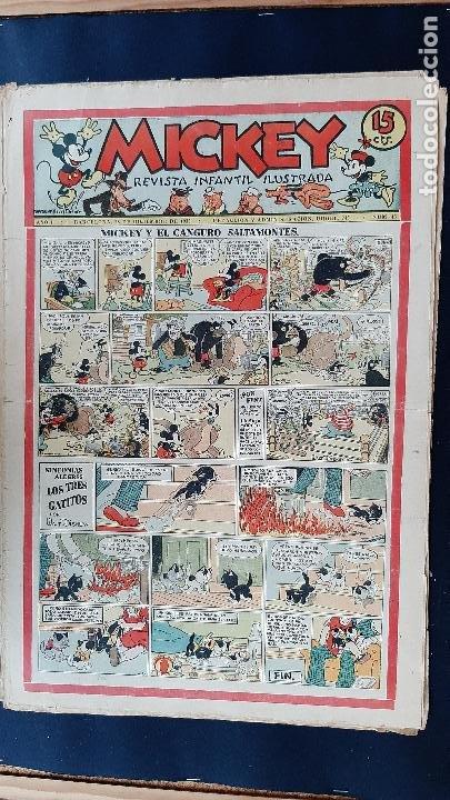Tebeos: LOTE DE MICKEY COLECCION MOLINO 59 EJEMPLARES ANTIGUOS 1935 1936 ORIGINALES - Foto 40 - 225020363