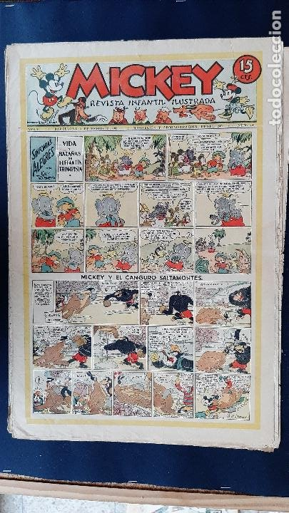 Tebeos: LOTE DE MICKEY COLECCION MOLINO 59 EJEMPLARES ANTIGUOS 1935 1936 ORIGINALES - Foto 41 - 225020363
