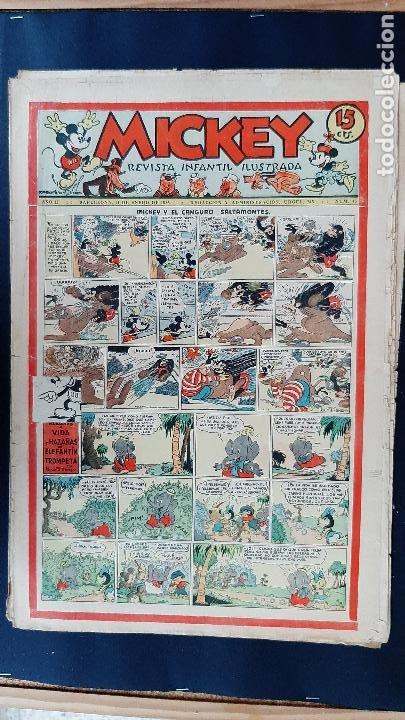 Tebeos: LOTE DE MICKEY COLECCION MOLINO 59 EJEMPLARES ANTIGUOS 1935 1936 ORIGINALES - Foto 42 - 225020363