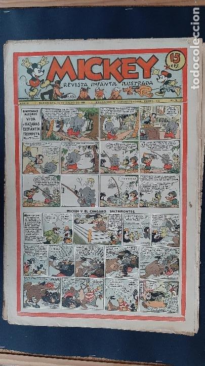 Tebeos: LOTE DE MICKEY COLECCION MOLINO 59 EJEMPLARES ANTIGUOS 1935 1936 ORIGINALES - Foto 44 - 225020363