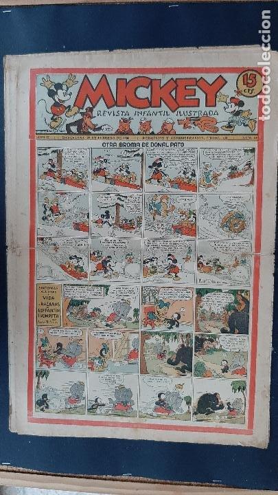 Tebeos: LOTE DE MICKEY COLECCION MOLINO 59 EJEMPLARES ANTIGUOS 1935 1936 ORIGINALES - Foto 47 - 225020363