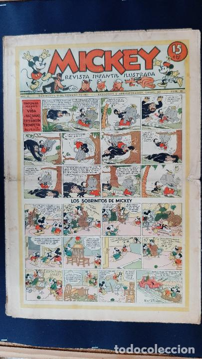 Tebeos: LOTE DE MICKEY COLECCION MOLINO 59 EJEMPLARES ANTIGUOS 1935 1936 ORIGINALES - Foto 48 - 225020363