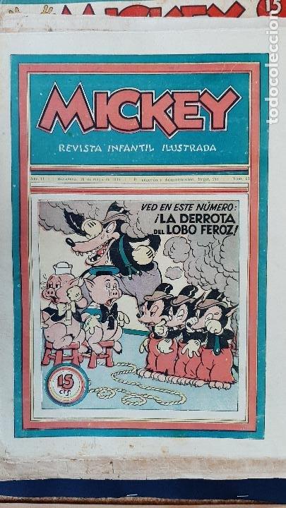 Tebeos: LOTE DE MICKEY COLECCION MOLINO 59 EJEMPLARES ANTIGUOS 1935 1936 ORIGINALES - Foto 54 - 225020363
