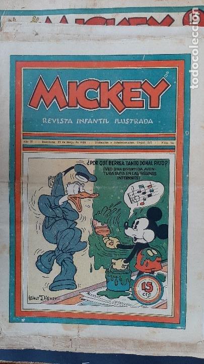Tebeos: LOTE DE MICKEY COLECCION MOLINO 59 EJEMPLARES ANTIGUOS 1935 1936 ORIGINALES - Foto 55 - 225020363