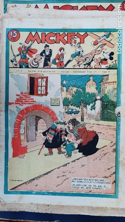 Tebeos: LOTE DE MICKEY COLECCION MOLINO 59 EJEMPLARES ANTIGUOS 1935 1936 ORIGINALES - Foto 56 - 225020363
