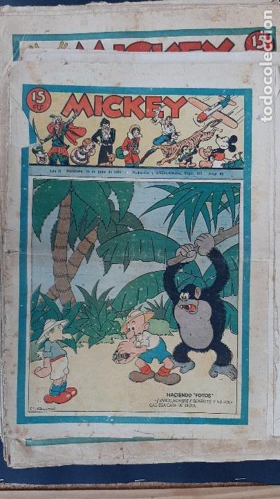 Tebeos: LOTE DE MICKEY COLECCION MOLINO 59 EJEMPLARES ANTIGUOS 1935 1936 ORIGINALES - Foto 57 - 225020363