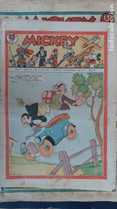 Tebeos: LOTE DE MICKEY COLECCION MOLINO 59 EJEMPLARES ANTIGUOS 1935 1936 ORIGINALES - Foto 58 - 225020363