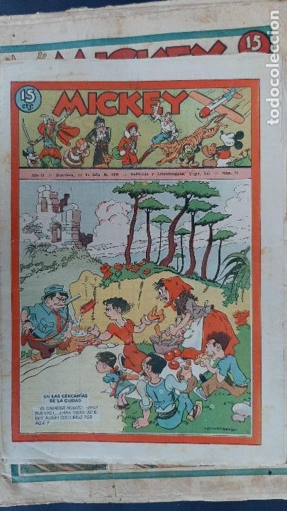 Tebeos: LOTE DE MICKEY COLECCION MOLINO 59 EJEMPLARES ANTIGUOS 1935 1936 ORIGINALES - Foto 59 - 225020363