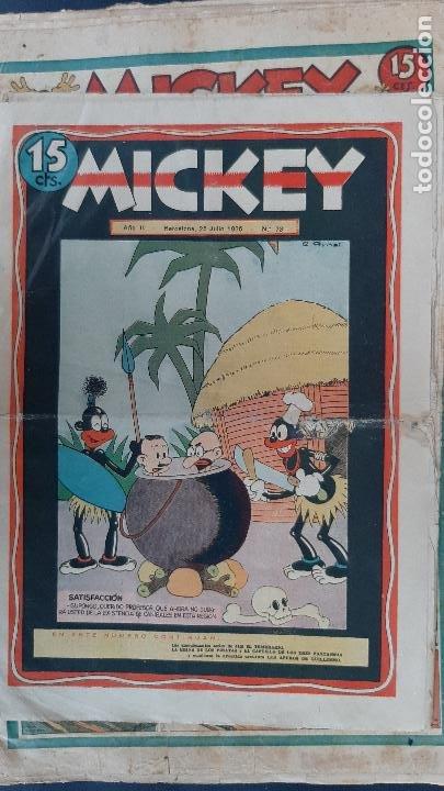 Tebeos: LOTE DE MICKEY COLECCION MOLINO 59 EJEMPLARES ANTIGUOS 1935 1936 ORIGINALES - Foto 60 - 225020363