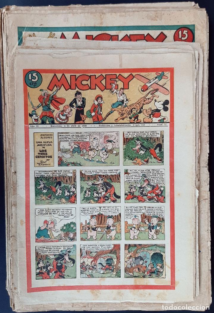 LOTE DE MICKEY COLECCION MOLINO 59 EJEMPLARES ANTIGUOS 1935 1936 ORIGINALES (Tebeos y Comics - Tebeos Colecciones y Lotes Avanzados)