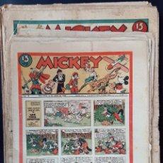 Tebeos: LOTE DE MICKEY COLECCION MOLINO 59 EJEMPLARES ANTIGUOS 1935 1936 ORIGINALES. Lote 225020363