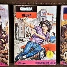 Tebeos: 3 COMICS DE CRONICA NEGRA - ELVIBERIA (1977/78) - VER FOTOS Y TÍTULOS. Lote 191567587