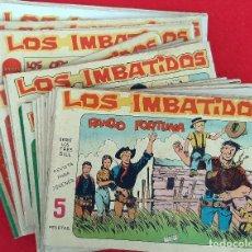 Tebeos: COLECCION COMPLETA LOS IMBATIDOS MAGA 30 EJEMPLARES ORIGINAL. Lote 225334405