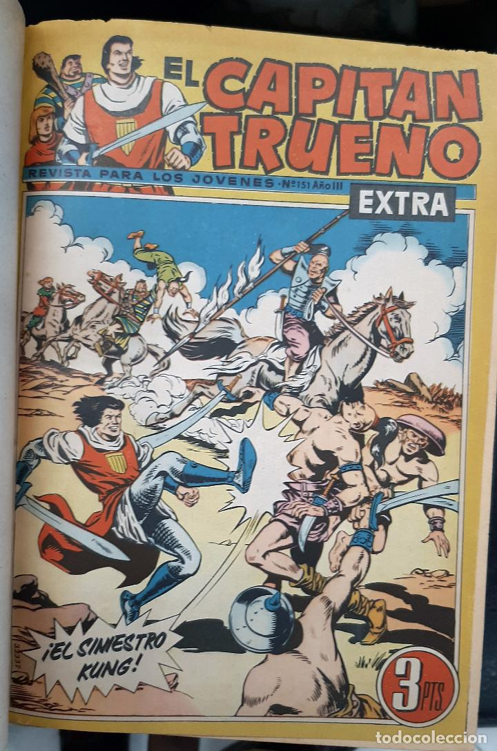 Tebeos: CAPITAN TRUENO EXTRA 5 TOMOS DESDE EL NUMERO 1 AL 253 FALTAN EL 97 Y EL 213 BRUGUERA ORIGINALES - Foto 6 - 226631975