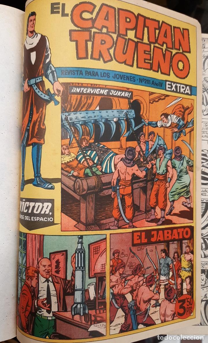 Tebeos: CAPITAN TRUENO EXTRA 5 TOMOS DESDE EL NUMERO 1 AL 253 FALTAN EL 97 Y EL 213 BRUGUERA ORIGINALES - Foto 7 - 226631975