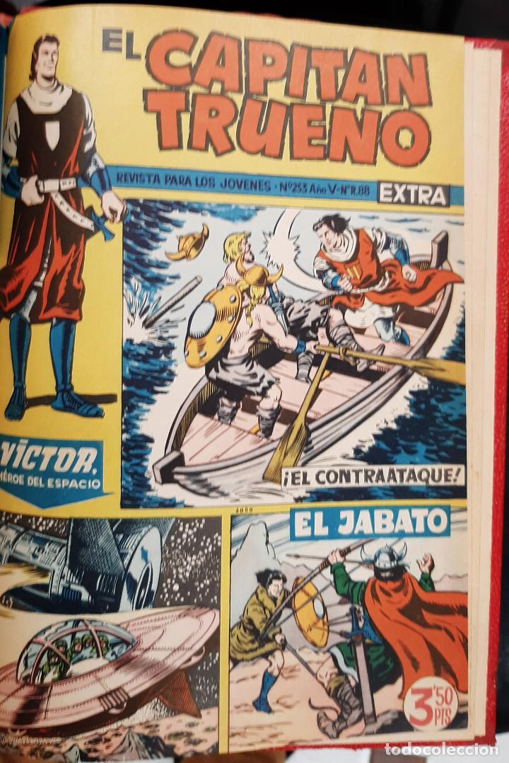 Tebeos: CAPITAN TRUENO EXTRA 5 TOMOS DESDE EL NUMERO 1 AL 253 FALTAN EL 97 Y EL 213 BRUGUERA ORIGINALES - Foto 8 - 226631975