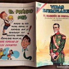 Tebeos: VIDAS EJEMPLARES: EL MARQUES DE COMILLAS - NOVARO (1968). Lote 246205590