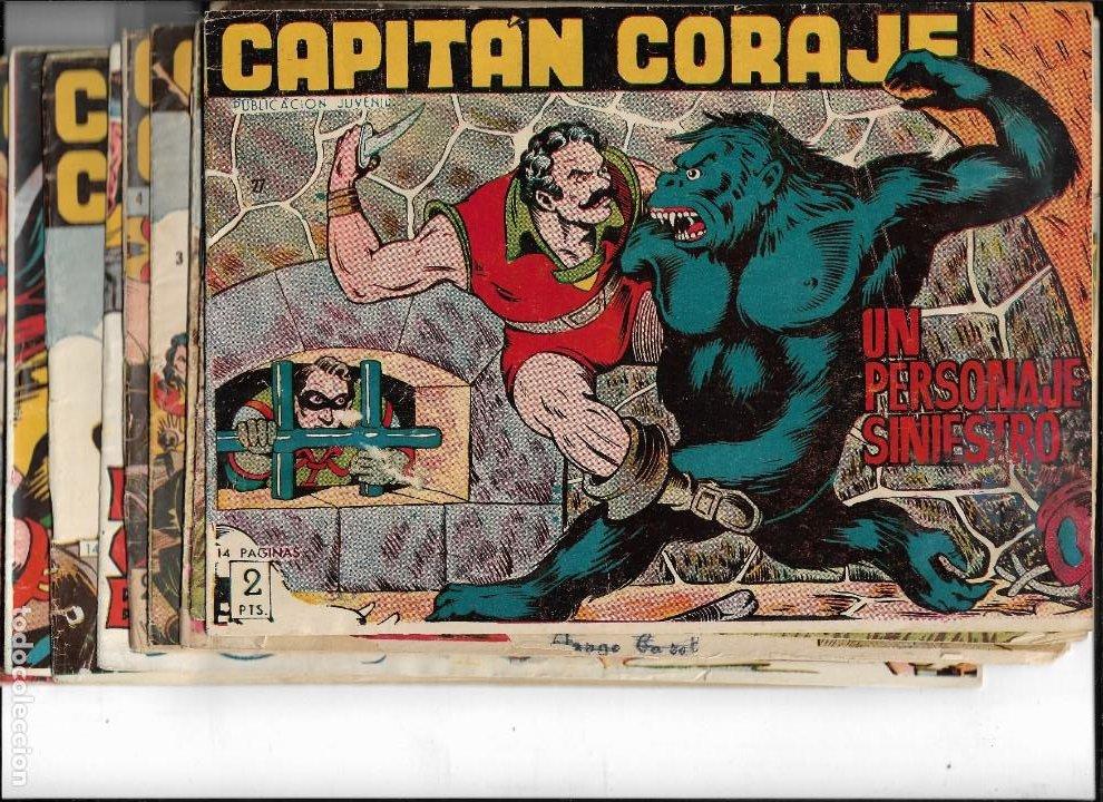 CAPITÁN CORAJE AÑO 1958 COLECCIÓN COMPLETA SON 44 TEBEOS ORIGINALES DIBUJADA POR G. IRANZO (Tebeos y Comics - Tebeos Colecciones y Lotes Avanzados)