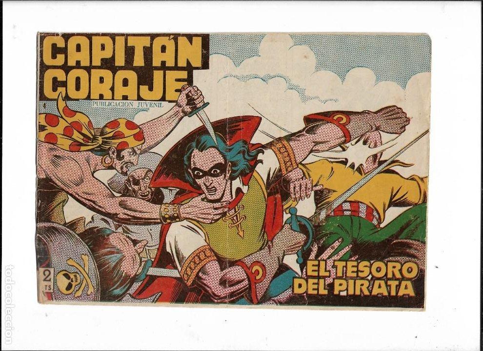 Tebeos: Capitán Coraje Año 1958 Colección Completa son 44 Tebeos Originales Dibujada por G. Iranzo - Foto 6 - 233878245