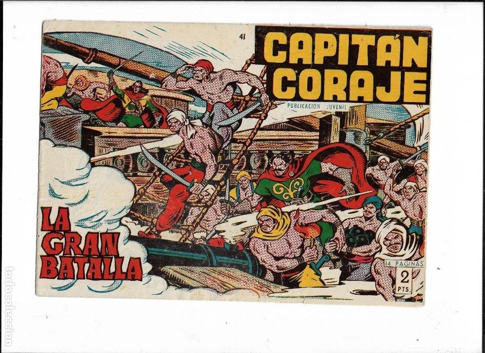 Tebeos: Capitán Coraje Año 1958 Colección Completa son 44 Tebeos Originales Dibujada por G. Iranzo - Foto 7 - 233878245