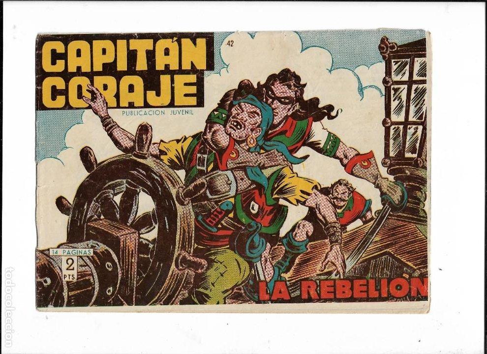 Tebeos: Capitán Coraje Año 1958 Colección Completa son 44 Tebeos Originales Dibujada por G. Iranzo - Foto 8 - 233878245