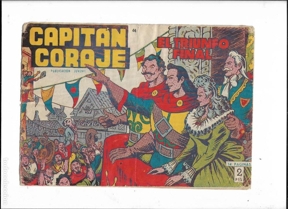 Tebeos: Capitán Coraje Año 1958 Colección Completa son 44 Tebeos Originales Dibujada por G. Iranzo - Foto 10 - 233878245