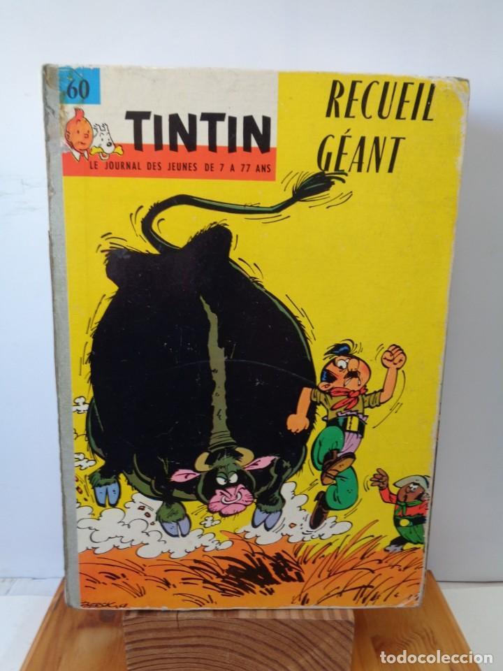 Tebeos: ¡¡ TINTIN, RECUEIL GEANT. LE JOURNAL DES JEUNES DE 7 A 77 ANS. 1963 -64. !! - Foto 2 - 238396015