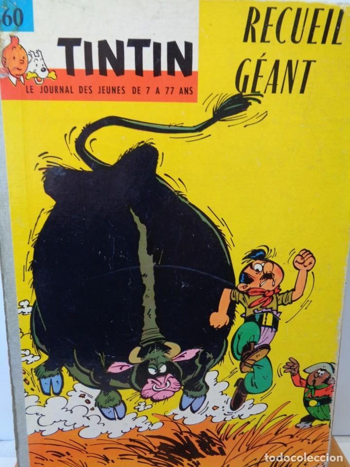 Tebeos: ¡¡ TINTIN, RECUEIL GEANT. LE JOURNAL DES JEUNES DE 7 A 77 ANS. 1963 -64. !! - Foto 4 - 238396015