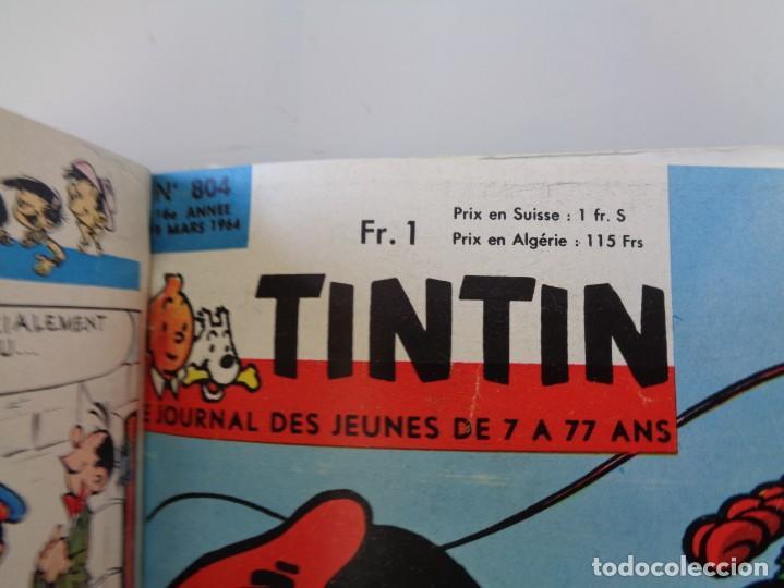 Tebeos: ¡¡ TINTIN, RECUEIL GEANT. LE JOURNAL DES JEUNES DE 7 A 77 ANS. 1963 -64. !! - Foto 7 - 238396015