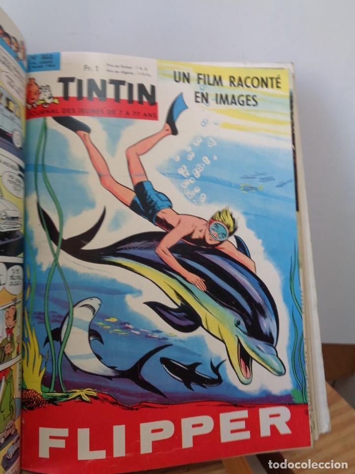 Tebeos: ¡¡ TINTIN, RECUEIL GEANT. LE JOURNAL DES JEUNES DE 7 A 77 ANS. 1963 -64. !! - Foto 11 - 238396015
